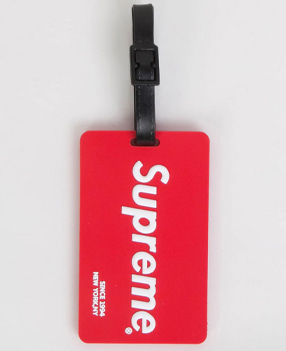 S.U.P NEW 네임택 LUGGAGE NAME TAG-레드